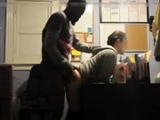Interracial doggystyle sex in the office